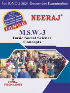 MSW3, Basic Social Science Concepts (English Medium), IGNOU Master of Social Work (MSW) Neeraj Publications | Guide for MSW-3 for December 2021 Exams with Sample Papers