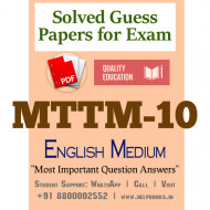 MTTM10 IGNOU Solved Sample Papers/Most Important Questions Answers for Exam