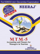 MTTM5, Accounting and Finance for Managers inTourism (English Medium), IGNOU Master of Tourism and Travel Management (MTTM) Neeraj Publications | Guide for MTTM-5 for December 2021 Exams with Sample Papers