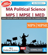 IGNOU MA Political Science Solved Assignments-MPS | e-Assignment Copy | 2019-2020