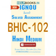 BHIC102 Solved Assignment (Hindi Medium)-Social Formations and Cultural Patterns of the Ancient World BHIC-102