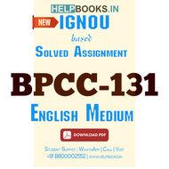 BPCC131 Solved Assignment (English Medium)-Foundations of Psychology