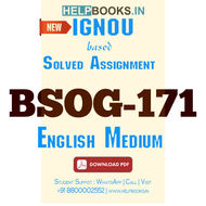 BSOG171 Solved Assignment (English Medium)-Indian Society: Images and Realities