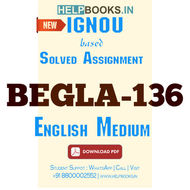 Download BEGLA136 Solved Assignment 2020-2021-English At The Work Place