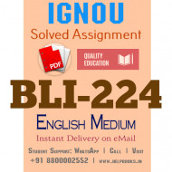 Download BLI224 IGNOU Solved Assignment 2020-2021 (English Medium)