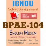 Download BPAE104 IGNOU Solved Assignment 2020-2021 (English Medium)