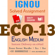 Download ECO13 IGNOU Solved Assignment 2020-2021 (English Medium)