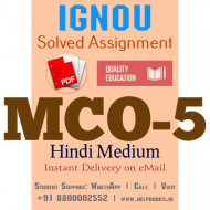 Download MCO5 IGNOU Solved Assignment 2020-2021 (Hindi Medium)
