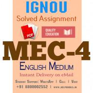 Download MEC4 IGNOU Solved Assignment 2020-2021 (English Medium)