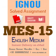 Download MES-015 IGNOU B.ed IGNOU Solved Assignment 2020-2021 (English Medium)