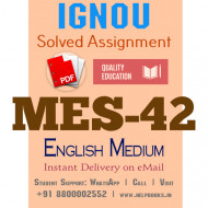 Download MES-042 IGNOU B.ed IGNOU Solved Assignment 2020-2021 (English Medium)