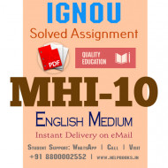 Download MHI10 IGNOU Solved Assignment 2020-2021 (English Medium)