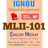 Download MLII101 IGNOU Solved Assignment 2020-2021 (English Medium)