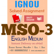 Download MSO3 IGNOU Solved Assignment 2020-2021 (English Medium)
