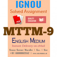 Download MTTM9 IGNOU Solved Assignment 2020-2021