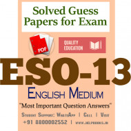 ESO13 IGNOU Solved Sample Papers/Most Important Questions Answers for Exam-English Medium