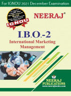 IBO2, International Marketing Management (English Medium), IGNOU Master of Commerce (MCOM) Neeraj Publications | Guide for IBO-2 for December 2021 Exams with Sample Papers