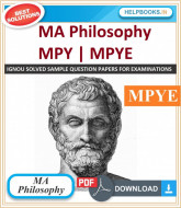 IGNOU MA Philosophy(MAPY) Solved Assignments-MPY & MPYE e-Assignment Copy | 2019-2020