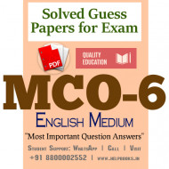 MCO6 IGNOU Solved Sample Papers/Most Important Questions Answers for Exam-English Medium