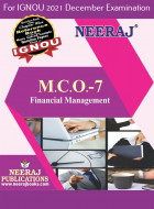 MCO7, Financial Managemen (English Medium), IGNOU Master of Commerce (MCOM) Neeraj Publications | Guide for MCO-7 for December 2021 Exams with Sample Papers