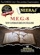 MEG8, New Literatures in English (English Medium), IGNOU Master of Arts (English)(MEG) Neeraj Publications | Guide for MEG-8 for December 2021 Exams with Sample Papers