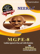MGPE8, Gandhian Approach to Peace and Conflict Resolution (English Medium), IGNOU Master of Arts (Political Science) (MPS) Neeraj Publications | Guide for MGPE-8 for December 2021 Exams with Sample Papers