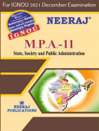 MPA11, State, Society and Public Administration (English Medium), IGNOU Master of Arts (Public Administration) (MPA) Neeraj Publications | Guide for MPA-11 for December 2021 Exams with Sample Papers
