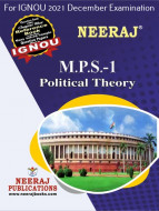 MPS1, Political Theory (English Medium), IGNOU Master of Arts (Political Science) (MPS) Neeraj Publications | Guide for MPS-1 for December 2021 Exams with Sample Papers