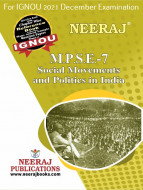 MPSE7, Social Movements and Politics in India (English Medium), IGNOU Master of Arts (Political Science) (MPS) Neeraj Publications | Guide for MPSE-7 for December 2021 Exams with Sample Papers