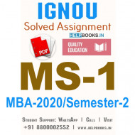MS1-IGNOU MBA Solved Assignment 2020/Semester-II (Management Functions and Behaviour)