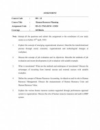 MS23-IGNOU MBA Solved Assignment 2020/Semester-I (Human Resource Planning)