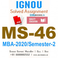 MS46-IGNOU MBA Solved Assignment 2020/Semester-II (Management of Financial Services)