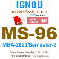 MS96-IGNOU MBA Solved Assignment 2020/Semester-II (Total Quality Management)