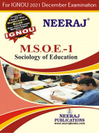 MSOE1, Sociology of Education (English Medium), IGNOU Master of Arts (Sociology)(MSO) Neeraj Publications | Guide for MSOE-1 for December 2021 Exams with Sample Papers