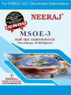 MSOE3, Sociology of Religion (Hindi Medium), IGNOU Master of Arts (Sociology)(MSO) Neeraj Publications | Guide for MSOE-3 for December 2021 Exams with Sample Papers