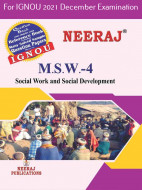 MSW4, Social Work and Social Development (English Medium), IGNOU Master of Social Work (MSW) Neeraj Publications | Guide for MSW-4 for December 2021 Exams with Sample Papers
