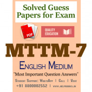 MTTM7 IGNOU Solved Sample Papers/Most Important Questions Answers for Exam