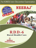 RDD6, Rural Health Care (English Medium), IGNOU Master of Arts (Rural Development) (MARD) Neeraj Publications | Guide for RDD-6 for December 2021 Exams with Sample Papers