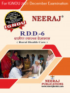 RDD6, Rural Health Care (Hindi Medium), IGNOU Master of Arts (Rural Development) (MARD) Neeraj Publications | Guide for RDD-6 for December 2021 Exams with Sample Papers