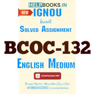 BCOC132 Solved Assignment (English Medium)-Business Organization and Management