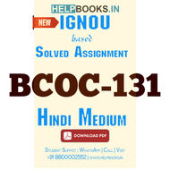BCOC131 Solved Assignment (Hindi Medium)-Financial Accounting