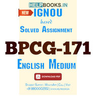 BPCG171 Solved Assignment (English Medium)-General Psychology