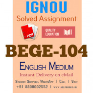Download BEGE104 IGNOU Solved Assignment 2020-2021