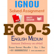 Download ECO5 IGNOU Solved Assignment 2020-2021 (English Medium)