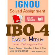 Download IBO4 IGNOU Solved Assignment 2020-2021 (English Medium)