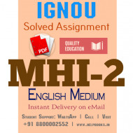 Download MHI2 IGNOU Solved Assignment 2020-2021 (English Medium)