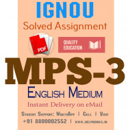 Download MPS3 IGNOU Solved Assignment 2020-2021 (English Medium)