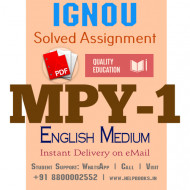Download MPY1 IGNOU Solved Assignment 2020-2021