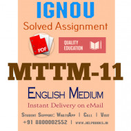 Download MTTM11 IGNOU Solved Assignment 2020-2021
