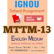 Download MTTM13 IGNOU Solved Assignment 2020-2021